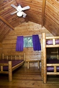 One Room Camping Cabin Inside