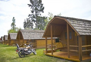 Camping Cabins and Motorcycles What a Great Match