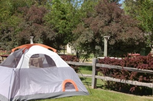 Tent site with electric available