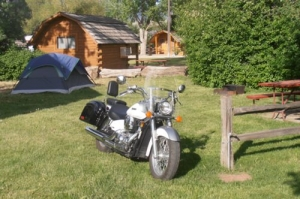 Motorcycle and Tenting go together.
