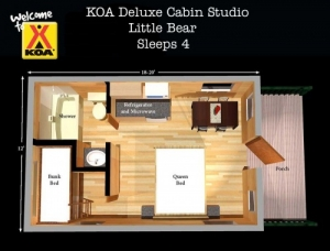 Little Bear Deluxe Cabin Floor Plan