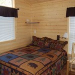 Big Bear Deluxe Cabin Queen Bed Room