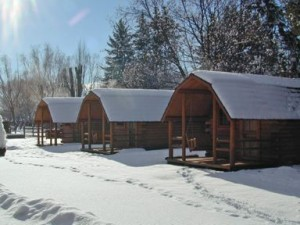 Camping Cabins Winter Off Season Camping