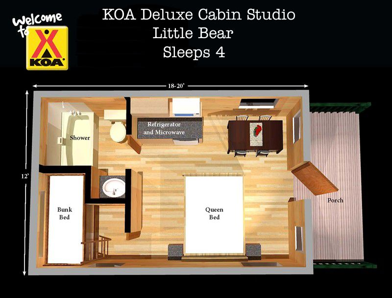 Deluxe Cabins Free Linens No Need To Pack Sleeping Bags