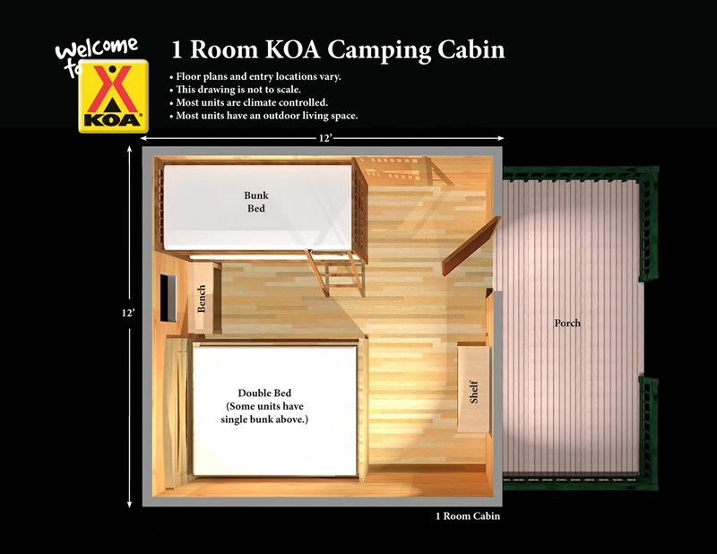 Groovy Camping Cabins Between Tent Camping And A Hotel Missoula Koa Largest Home Design Picture Inspirations Pitcheantrous
