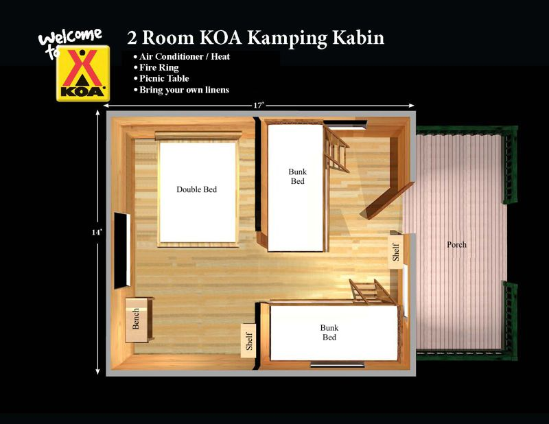 Two Room Cabin Floor Plan Click Here  sc 1 st  Missoula KOA & Camping Cabins: Between Tent Camping and a Hotel - Missoula KOA