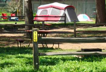 Tent sites for all sizes of tents