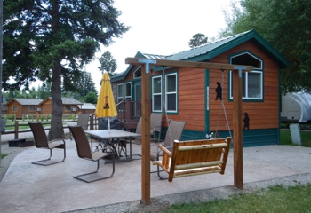 Deluxe cabins have their own full bath and we provide the linens