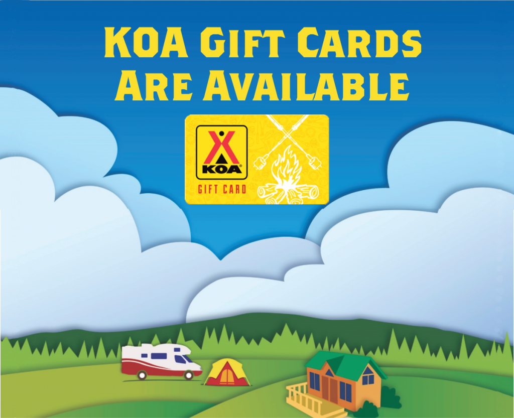 KOA Gift Card get yours now