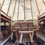 Teepee Inside at Missoula KOA