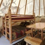 Inside of Luxury Teepee