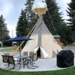 Luxury Teepee at Missoula KOA