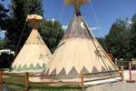 Missoula KOA has Teepees Linens Provided