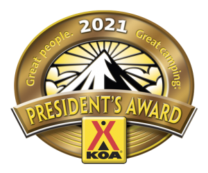 KOA Presidents Award 2021